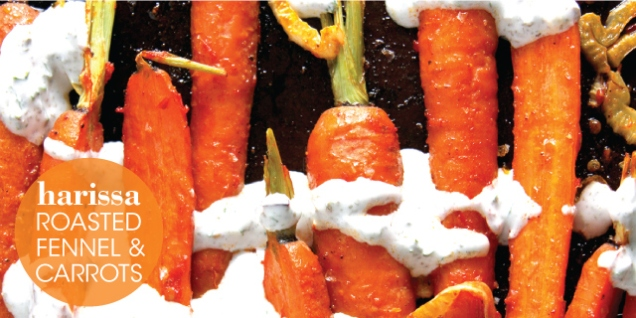 HARISSA ROASTED FENNEL & CARROTS