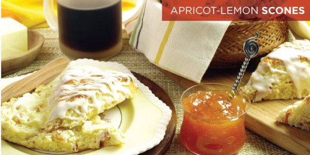 APRICOT-LEMON SCONES